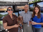 AIP-Nov-Nondi Bhaduri Toffee Dr N Bhaduri and Sydnie Sterk at artists R Clark Lindberg booth