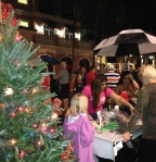 Families helped us create handmade ornaments to decorate each one at the Fifth Avenue South Tree Lighting event.