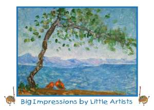 This Impressionistic-style image was created by a preschooler, 4-year-old
