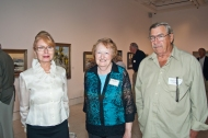 Jennifer Gruppe, Mary Ann Eberspacher, Robert Gruppe at the preview reception. As a longtime admirer of his work, Mary Ann was pleased to meet Robert.
