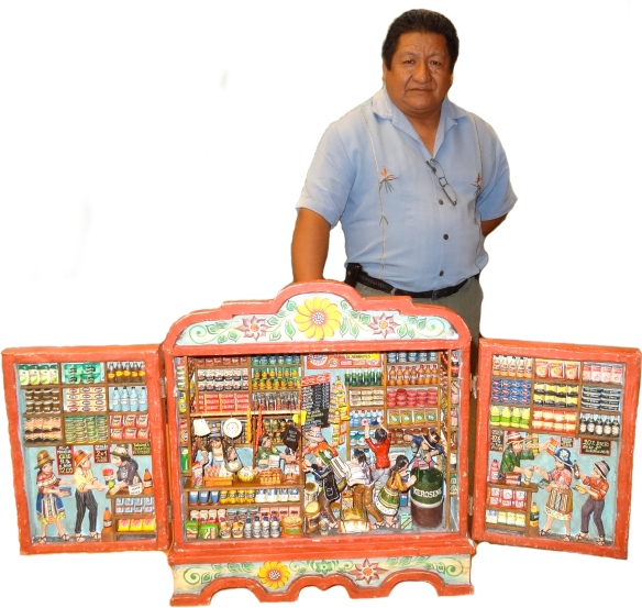 Nicario Jimenez will talk about how he makes retablos and how this artform tells stories.
