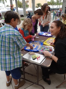 First Saturdays also features make-and-take art projects for children of all ages for free. Instructor Kim Walbert leads the fun!