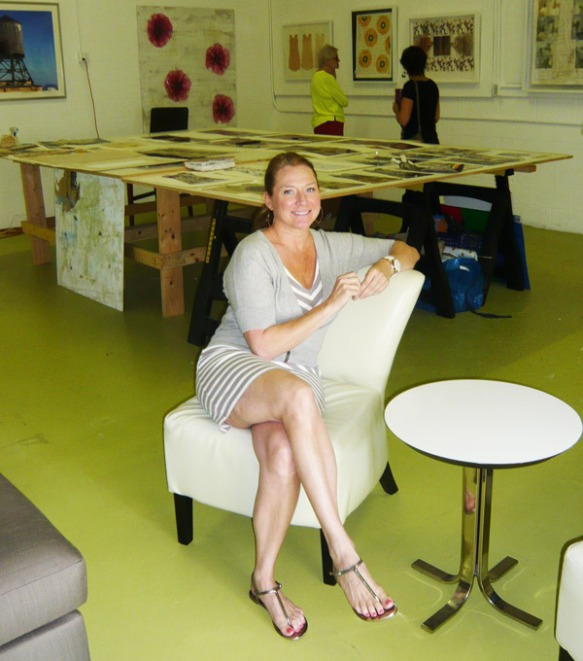 Kelly Hollingsworth in her Naples art studio.