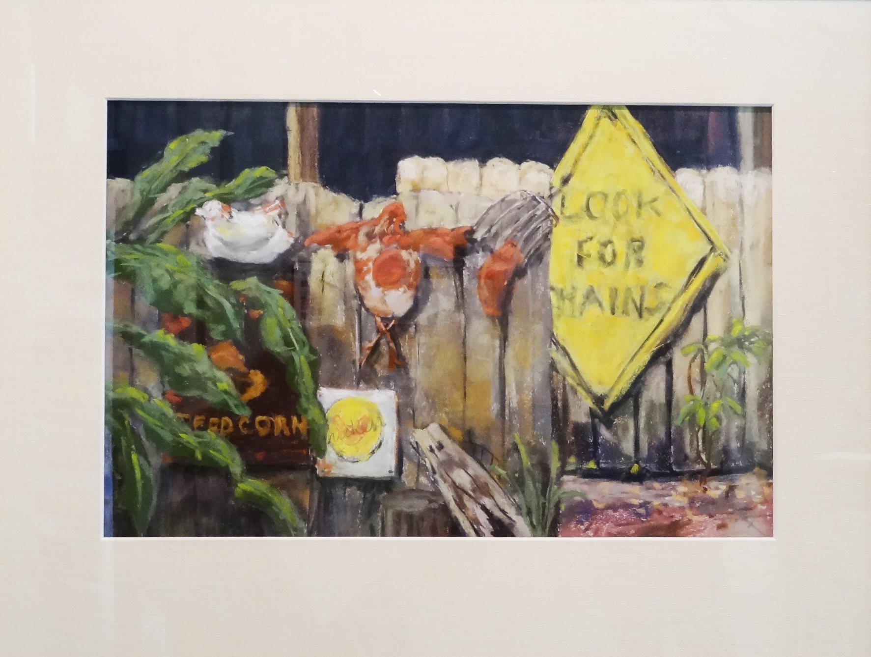 A closer look at the naples art association show words signs and tanya trinkaus glass chicken feed jurors choice award in the naples art association words biocorpaavc Choice Image