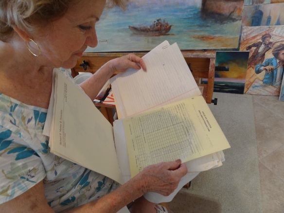 Mariner taught art classes and helped arrange special guest artist workshops with the Naples Art Association at the Naples Depot. She still has the paper attendance records.