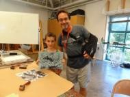 Josh with instructor William Saladino