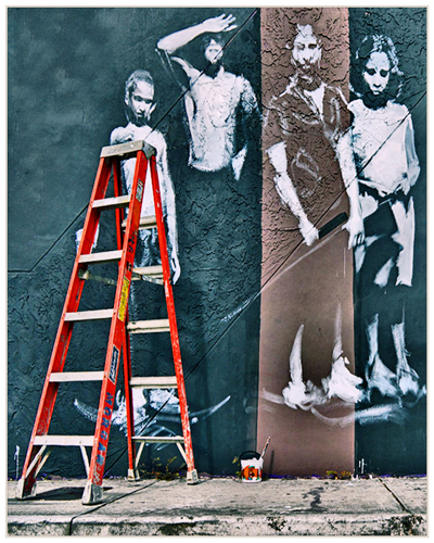 Nic Provenzo Naples, Florida Ladder Wynwood Walls, 2012 digital photograph 38 x 32 inches